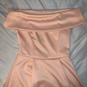 Dresses - NWT, Blush Colored, Off-the-shoulder, Skater Dress